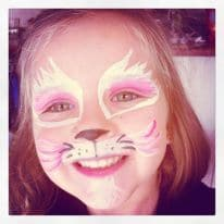 maquillaje niños gatito rosa makeup kids kitty