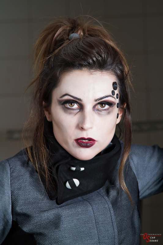 maquillaje tim burton ojeras