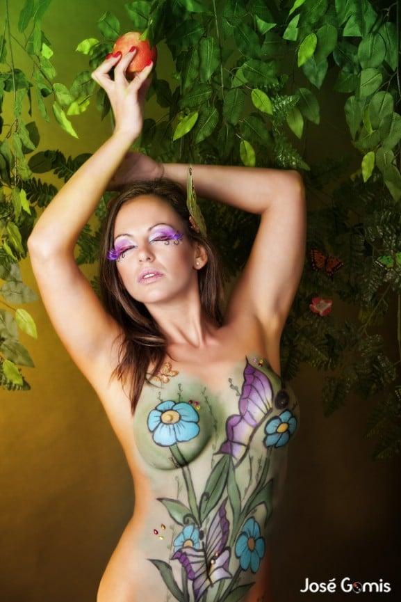 nereida gallardo body painting bodypaint