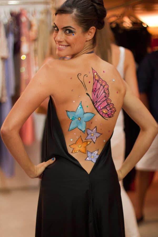 body paint espalda bodypainting maria escobero