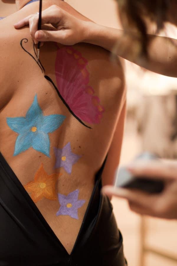 body paint en vivo amanda noguera