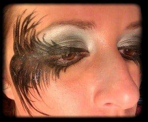 maquillaje ojos angel negro carnaval black angel