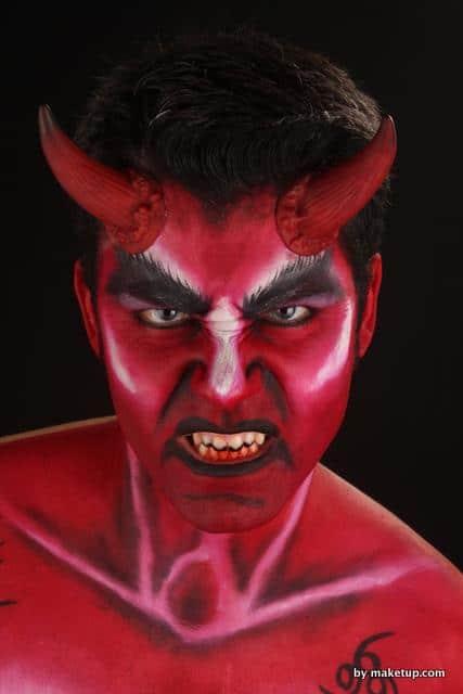 maquillaje make up demon demonio diablo