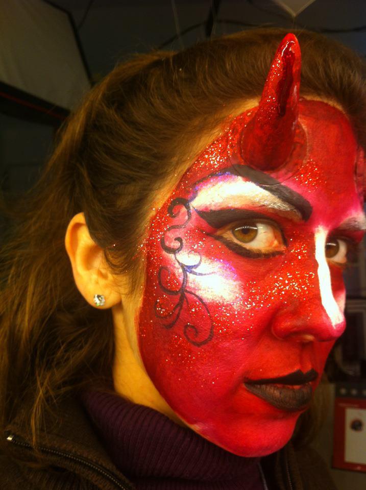 demonio mujer demonia makeup maquillaje devil makeup