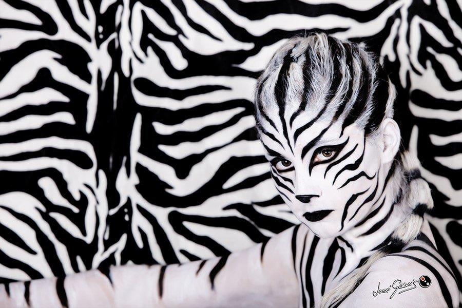 body painting body paint bodypainting de cebra zebra isa jimenez jose gomis
