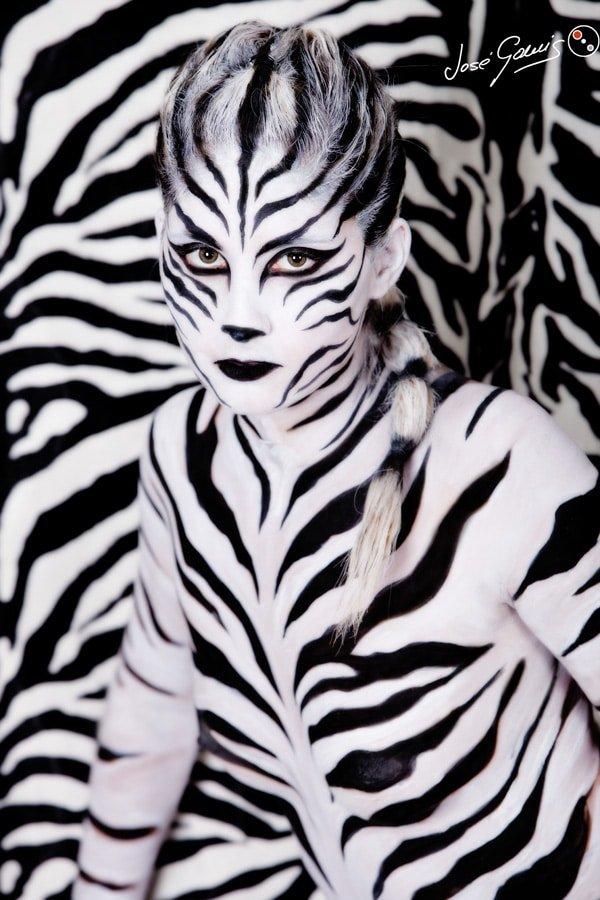 bodypaintint bodypaint body paint body painting cebra zebra modelo isa jimenez foto jose gomis