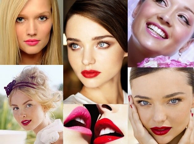 red and pink lips